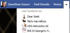 Use Facebook As