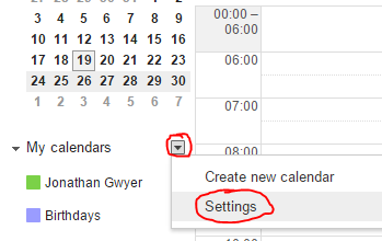 Remove Google+ Contact Birthdays from your Calendar